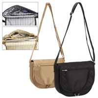 Handbag w/ Cross Body Shoulder Strap - Quilted Satin - Savvy