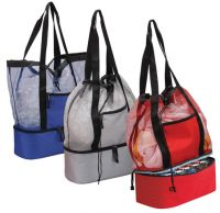 Insulated Tote Bag - Cooler Compartment & Drawstring Closure