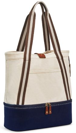 Insulated Tote Bag w/ Slash Pockets - Heritage Supply Freeport
