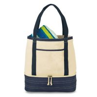 Insulated Tote Bag w/ Velcro Closure - Coastal Cotton