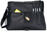 "Laptop Messenger Bag w/ Earphone Outlet - Fits 15.4"" - Focus"