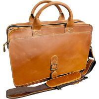 Leather Briefcase - Mobile Device Slot - Canyon Outback Texas