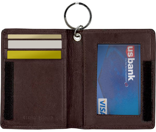 Leather Double Id Holder W Key Ring Andrew Philips