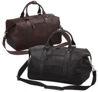 Leather Duffle Bag w/ Dual Button Snaps - Bellino Eiffel