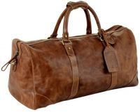 Leather Duffle Bag w/ Lined Interior - Andrew Philips Westbridge