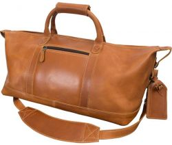 Leather Duffle Bag w/ Zip Pocket - Canyon Outback Boulder