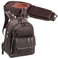 Leather Laptop Backpack w/ Laptop Sleeve - Bellino Tuscany