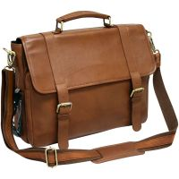 Leather Laptop Briefcase w/ Laptop & Tablet Sleeves - Marshall