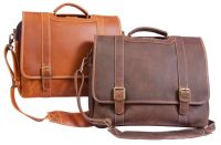 Leather Laptop Briefcase w/ Sleeve - Canyon Outback Old Fort