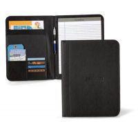 Leather Padfolio w/ Multiple Pockets & Pen Loop - Cityscape