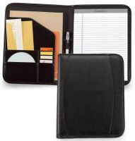 Leather Padfolio w/ Multiple Slots & Pen Loop - Contemporary