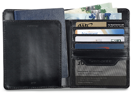 Leather Passport Holder W Rfid Blocking Samsonite