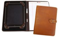 Leather Tablet Case w/ Memo Pad - Canyon Outback Lee