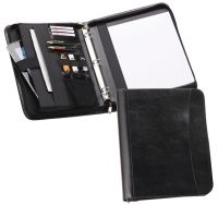 Leather 3 Ring Padfolio w/ Padded Tablet Sleeve