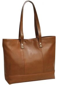 Leather Tote Bag w/ Padded Tablet Sleeve - Bellino Miranda