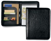 Leather Zippered Padfolio w/ Multi Function Organizer - Tuscan