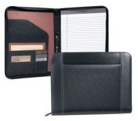 Leather Zippered Padfolio w/ Multi Pocket Organizer - Eton