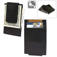 Men's Leather Money Clip Wallet - RFID Protected