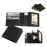 Men's Leather Wallet w/ Coin Compartment & Slots - Bi Fold