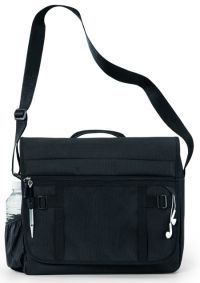 Messenger Bag w/ Earphone Outlet & Multi Function Organizer