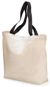 "9 oz. Cotton Tote Bag - 15.5"" Wide - Colored Handles"