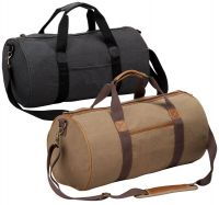 "19"" Canvas Duffle Bag w/ Faux Leather Trim - Tahoe"
