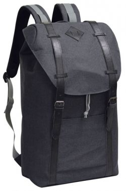 School Backpack w/ Cinch Top Closure - 600D Poly Canvas
