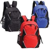 School Backpack w/ D-Ring - Multiple Pockets