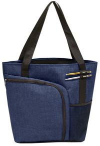 Shopping Tote Bag w/ Two Shoe Pockets - Polycanvas