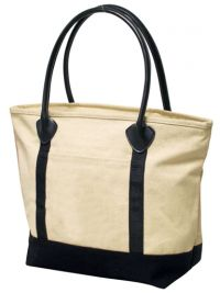 16 oz. Cotton Tote Bag w/ Zippered Closure - Avalon