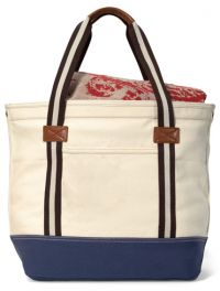 16 oz. Cotton Tote Bag w/ Zippered Closure - Heritage Supply