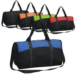Sport Duffle Bag w/ Open Pockets - Polyester