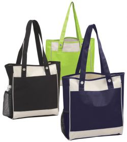 13 Inch Shopping Tote Bag - 600D Polyester - City