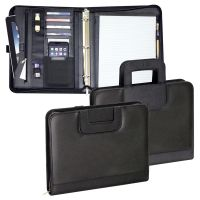 3 Ring Binder w/ Padded Laptop Pocket & Foldable Handles