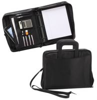 3 Ring Binder w/ Padded Laptop Sleeve & Zippered Closure