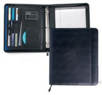 3 Ring Padfolio w/ Multi Pocket Organizer - Wall Street
