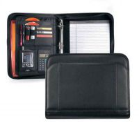 3 Ring Padfolio w/ Multiple Pockets & Calculator - Global