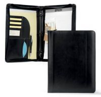 "3 Ring Padfolio w/ 1"" Rings & Multi-Pocket Organizer - Writers"