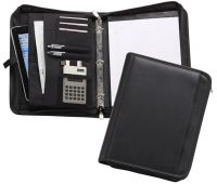 3 Ring Padfolio w/ Padded Tablet Pocket & Zippered Closure