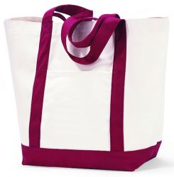 "12 oz. Cotton Tote Bag w/ Snap Closure - 18"" Wide - Captain"