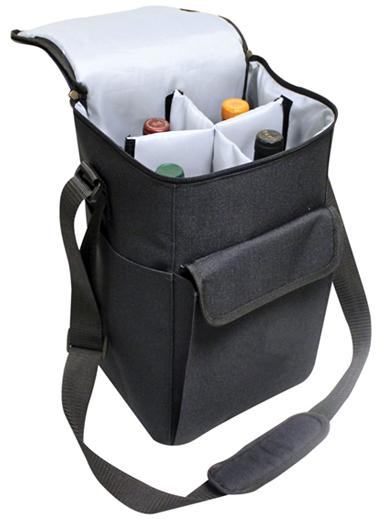 Wine Cooler Bag W Foam Padding 4 Bottle