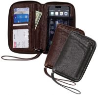 Women's Clutch Wallet w/ Smartphone Pocket - Faux Leather