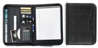 Zippered Padfolio w/ Calculator & Multiple Pockets - Wall Street