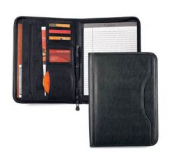 Zippered Padfolio w/ Mutiple Pockets & Slots - Wall Street
