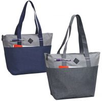 Zippered Tote Bag - Heather Poly Canvas - Urban
