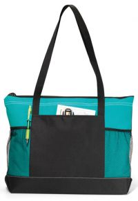 Zippered Tote Bag w/ Multiple Pockets - Pen Loop - Select
