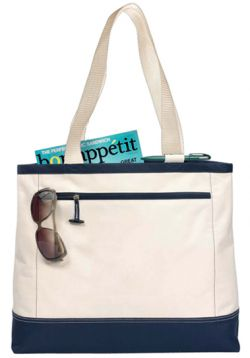 Zippered Tote Bag w/ Removable Storage Pouch - Utility